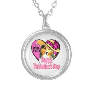 Día de San Valentín de Sheltie del perro pastor de Pendientes