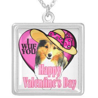 Día de San Valentín de Sheltie del perro pastor de Collar Personalizado