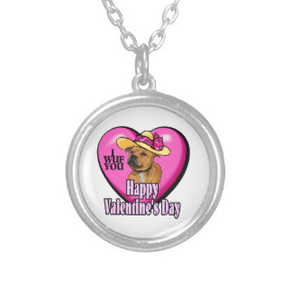 Día de San Valentín de Staffordshire bull terrier Pendiente Personalizado