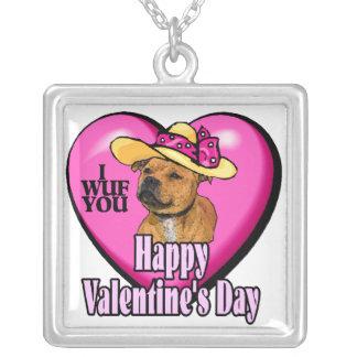 Día de San Valentín de Staffordshire bull terrier Joyerias