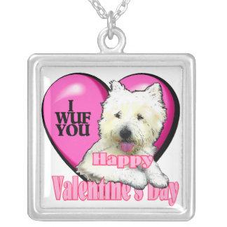 Día de San Valentín de Terrier blanco de montaña d Colgantes Personalizados