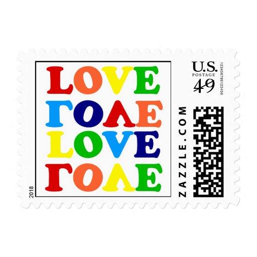 Día de San Valentín del amor del arco iris del Sello