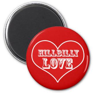 Día de San Valentín del amor del Hillbilly Imán Redondo 5 Cm