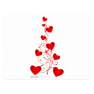 Día de San Valentín del árbol del corazón - amor r Tarjetas Postales
