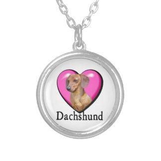 Día de San Valentín del Dachshund Colgante Personalizado