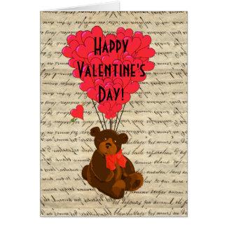 Día de San Valentín del oso de peluche Tarjeta De Felicitación