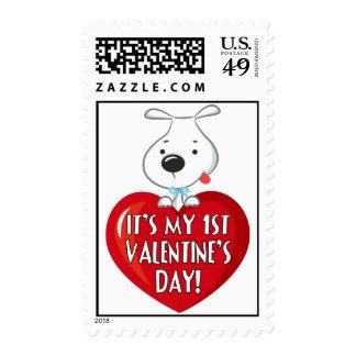 Día de San Valentín del perro de perrito 1r Envio