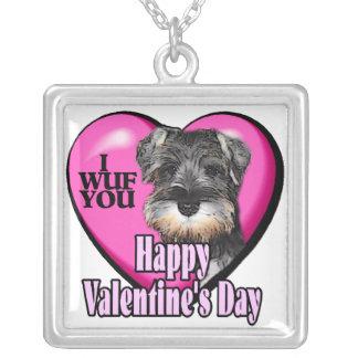 Día de San Valentín del Schnauzer miniatura Joyería