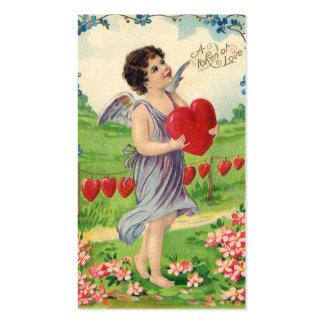 Día de San Valentín del Victorian del vintage, Tarjetas De Visita