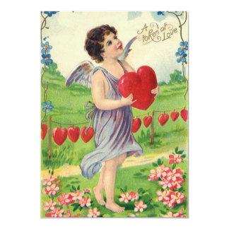 Día de San Valentín del vintage, Cupid del Invitación Personalizada