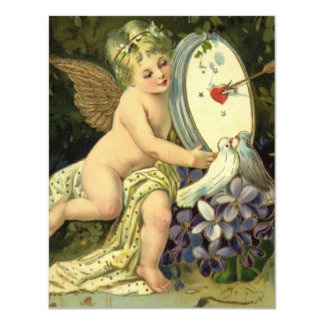 Día de San Valentín del vintage, pájaros del amor Anuncio