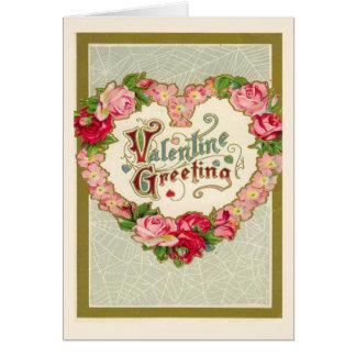 Día de San Valentín del vintage Tarjeta De Felicitación