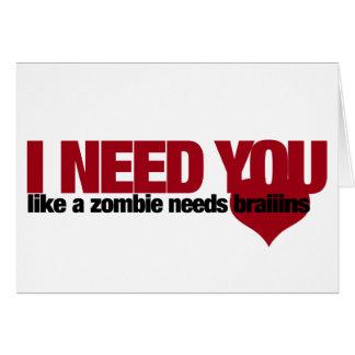Día de San Valentín del zombi Tarjeta Pequeña