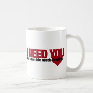 Día de San Valentín del zombi Tazas De Café