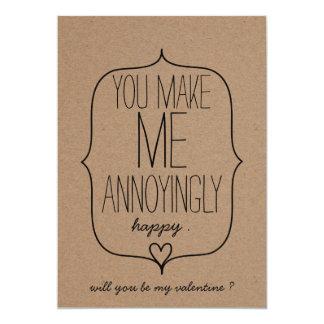 """Día de San Valentín divertido del corazón lindo Invitación 5"""" X 7"""""""