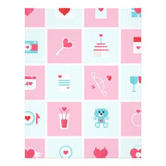 día de San Valentín en colores pastel Plantillas De Membrete
