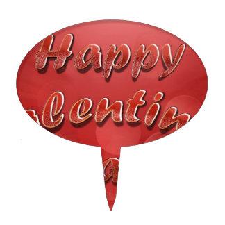 Día de San Valentín feliz Figuras De Tarta