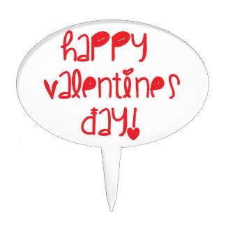 Día de San Valentín feliz Decoración Para Tarta