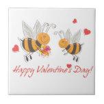 Día de San Valentín feliz Azulejo Ceramica