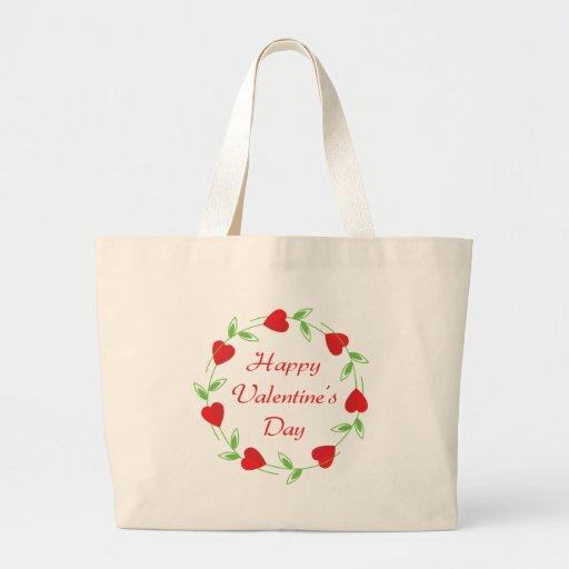 Día de San Valentín feliz Bolsas De Mano