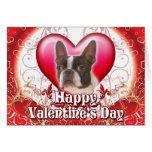 Día de San Valentín feliz Boston Terrier Tarjeta De Felicitación