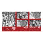 Día de San Valentín feliz - collage de 5 fotos Tarjeta Fotografica