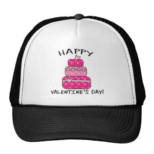 Día de San Valentín feliz de la torta del corazón Gorra