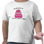 Día de San Valentín feliz de la torta del corazón Camiseta