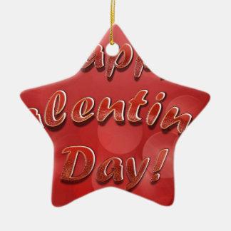 Día de San Valentín feliz Ornaments Para Arbol De Navidad