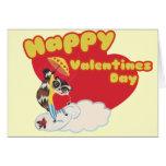 Día de San Valentín feliz del vintage Felicitaciones