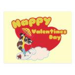 Día de San Valentín feliz del vintage Tarjeta Postal