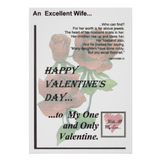 Día de San Valentín feliz -- Esposa excelente Impresiones