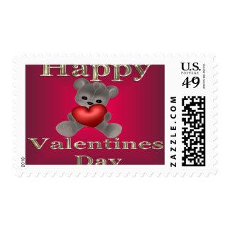 día de San Valentín feliz Estampilla