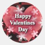 Día de San Valentín feliz Etiqueta Redonda
