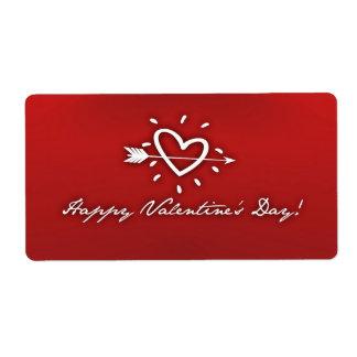 Día de San Valentín feliz Etiquetas De Envío
