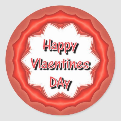 Día de San Valentín feliz Etiquetas Redondas