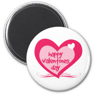 Día de San Valentín feliz Imán Redondo 5 Cm