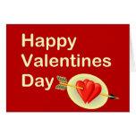 Día de San Valentín feliz - la flecha del Cupid Tarjetas