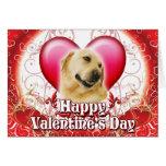 Día de San Valentín feliz Labrador Felicitaciones