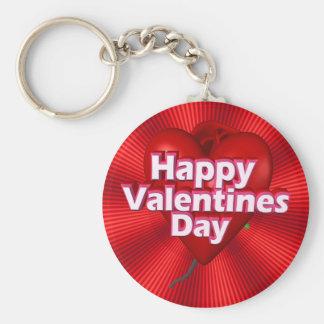 Día de San Valentín feliz Llavero Redondo Tipo Pin