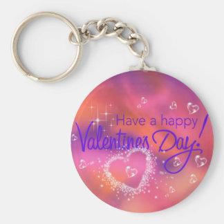 día de San Valentín feliz Llaveros