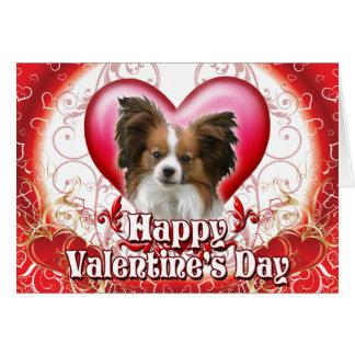 Día de San Valentín feliz Papillon Tarjeta