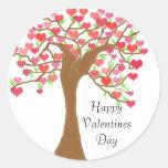 Día de San Valentín feliz Pegatinas Redondas