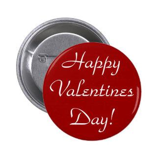 ¡Día de San Valentín feliz! Pin Redondo De 2 Pulgadas