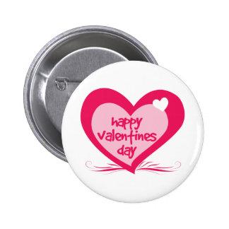Día de San Valentín feliz Pin Redondo De 2 Pulgadas