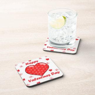Día de San Valentín feliz Posavasos