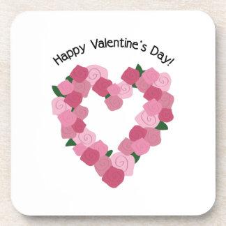 Día de San Valentín feliz Posavasos De Bebidas