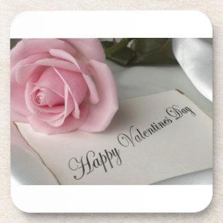 Día de San Valentín feliz Posavasos De Bebida