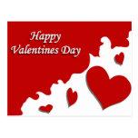 Día de San Valentín feliz Postal