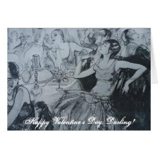 ¡Día de San Valentín feliz, querido! Tarjeta De Felicitación
